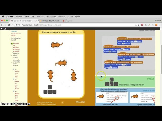 3 Scratch - mover ator com setas de direção