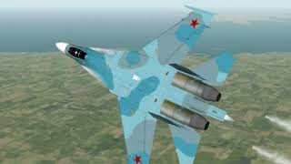 Test Flight of FLANKER 2 - SU 27