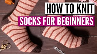 How To Knit Socks For Beginners - Step By Step Tutorial (really Easy Pattern)