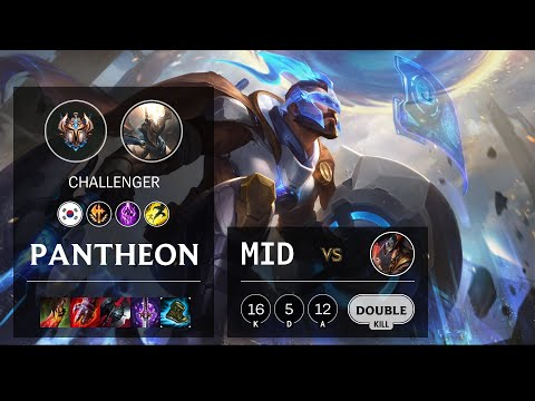 Pantheon Mid vs Twisted Fate - KR Challenger Patch 10.19