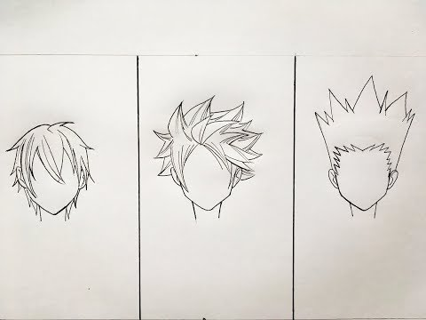 how-to-draw-anime-hair-3-different-ways
