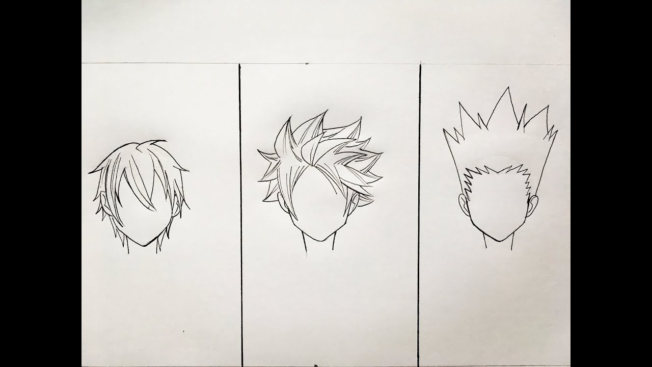 How To Draw Anime Hair 3 Different Ways