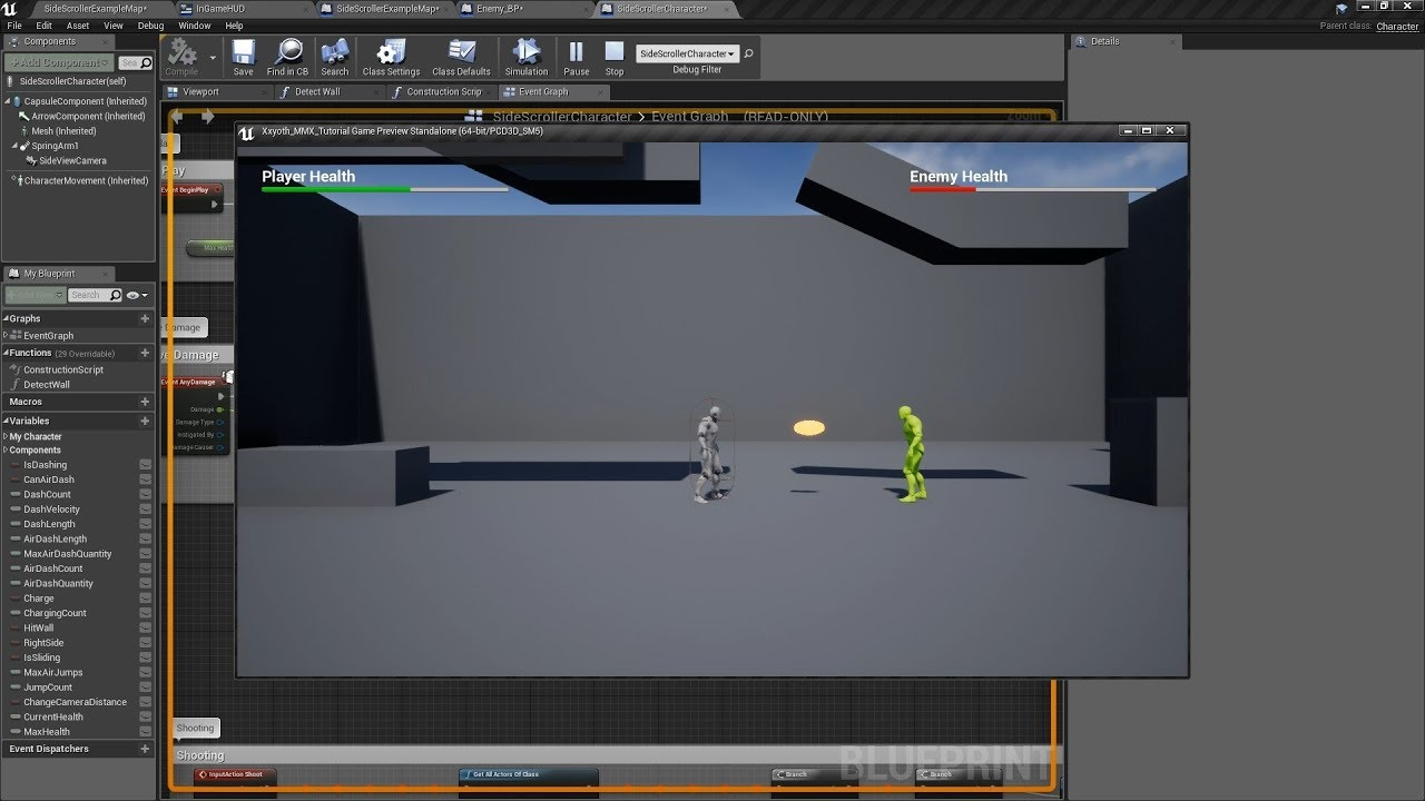 [UE4 Tut] HUD with Health Bars for the Player and Enemy