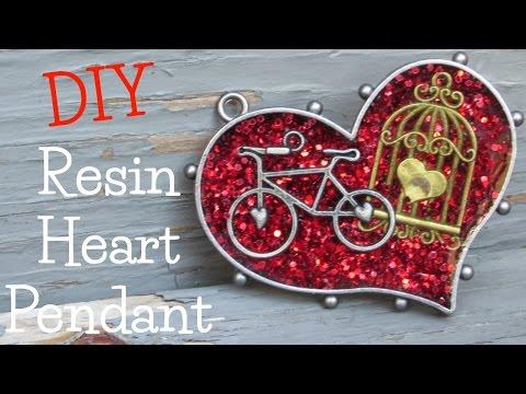 Resin Heart Pendant DIY
