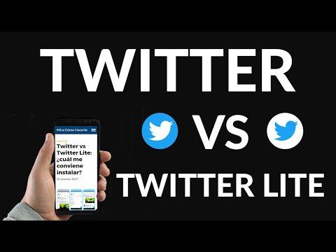 Twitter vs Twitter Lite, ¿Cuál me Conviene Instalar?