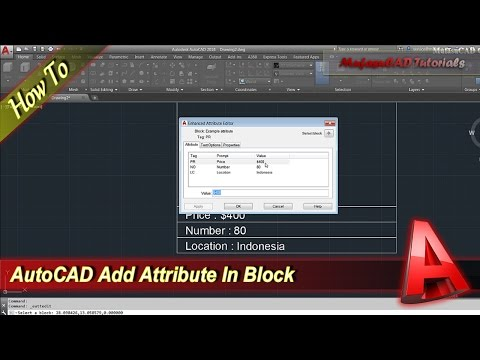 AutoCAD How To Add Attribute To Block