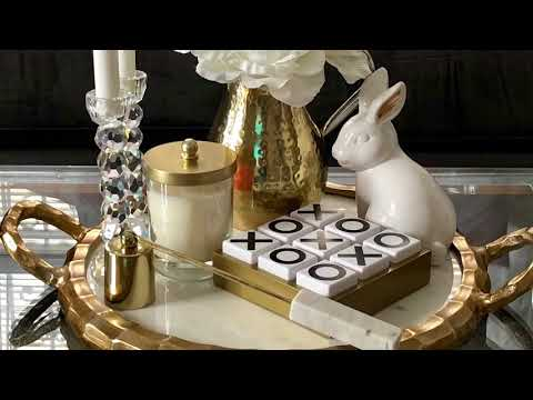 2018 SPRING | COFFEE TABLE IDEAS GOLD & BLUSH