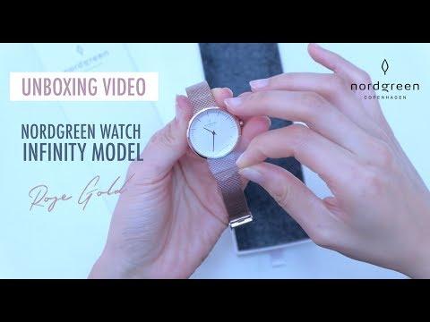 NORDGREEN WATCHES Unboxing Video - 32mm Rose Gold Infinity - Scandinavian Designer Watch Review 2018