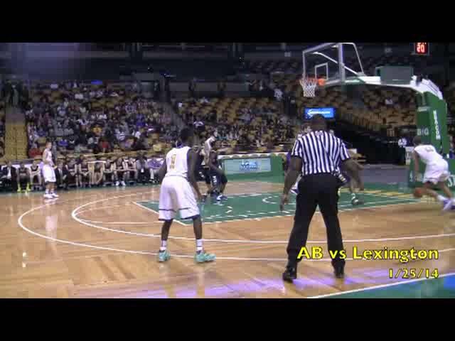 Acton Boxborough Varsity Boys Basketball vs Lexington 1/25/14