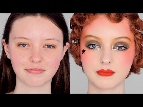 The GOLD Look - Vintage 1920's inspired Collette Marchant Makeup