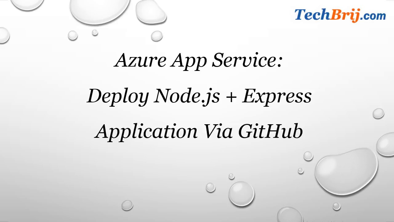 Deploying a MEAN App to Azure App Services via GitHub - TechBrij