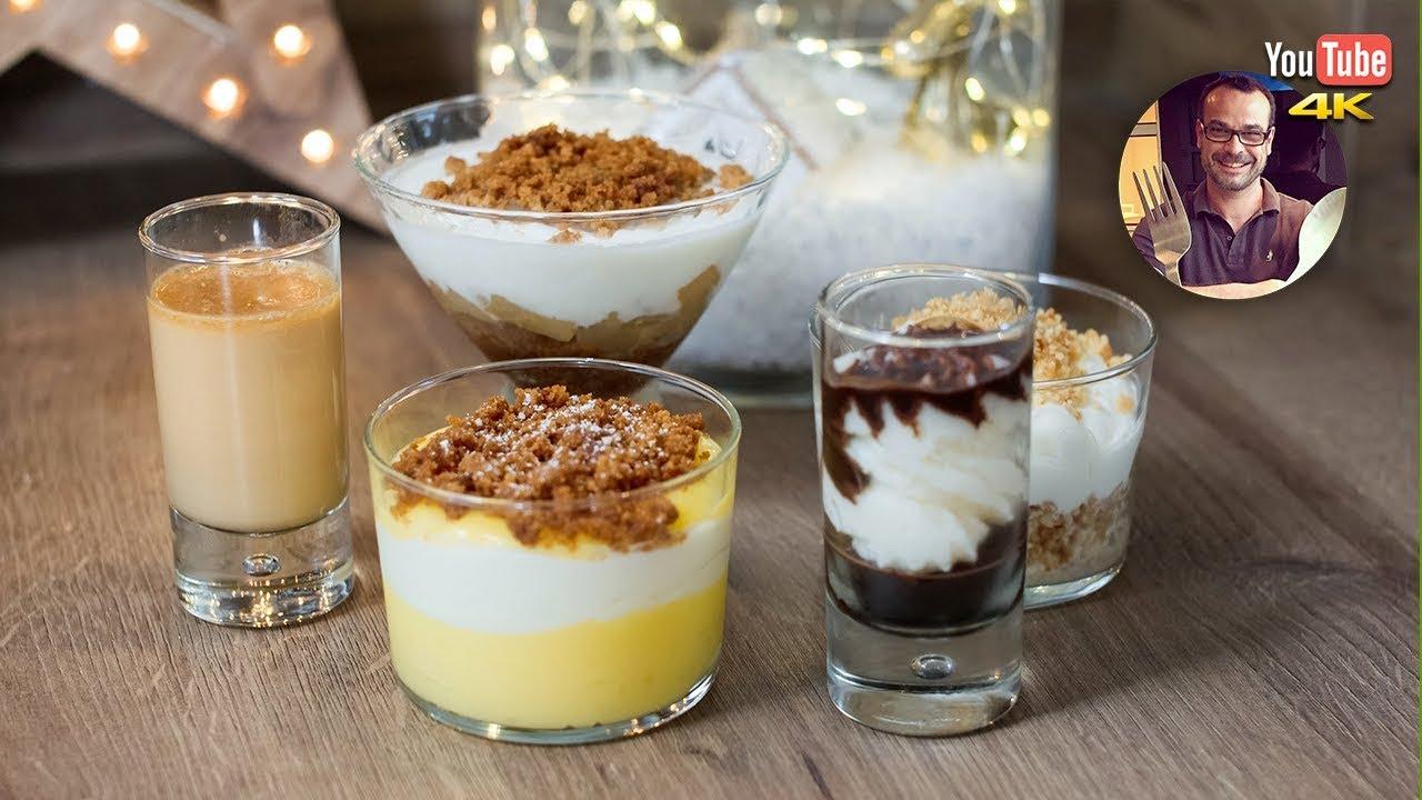 Menu Noel 5 Recettes De Verrines Sucrees Pour Le Dessert Youtube
