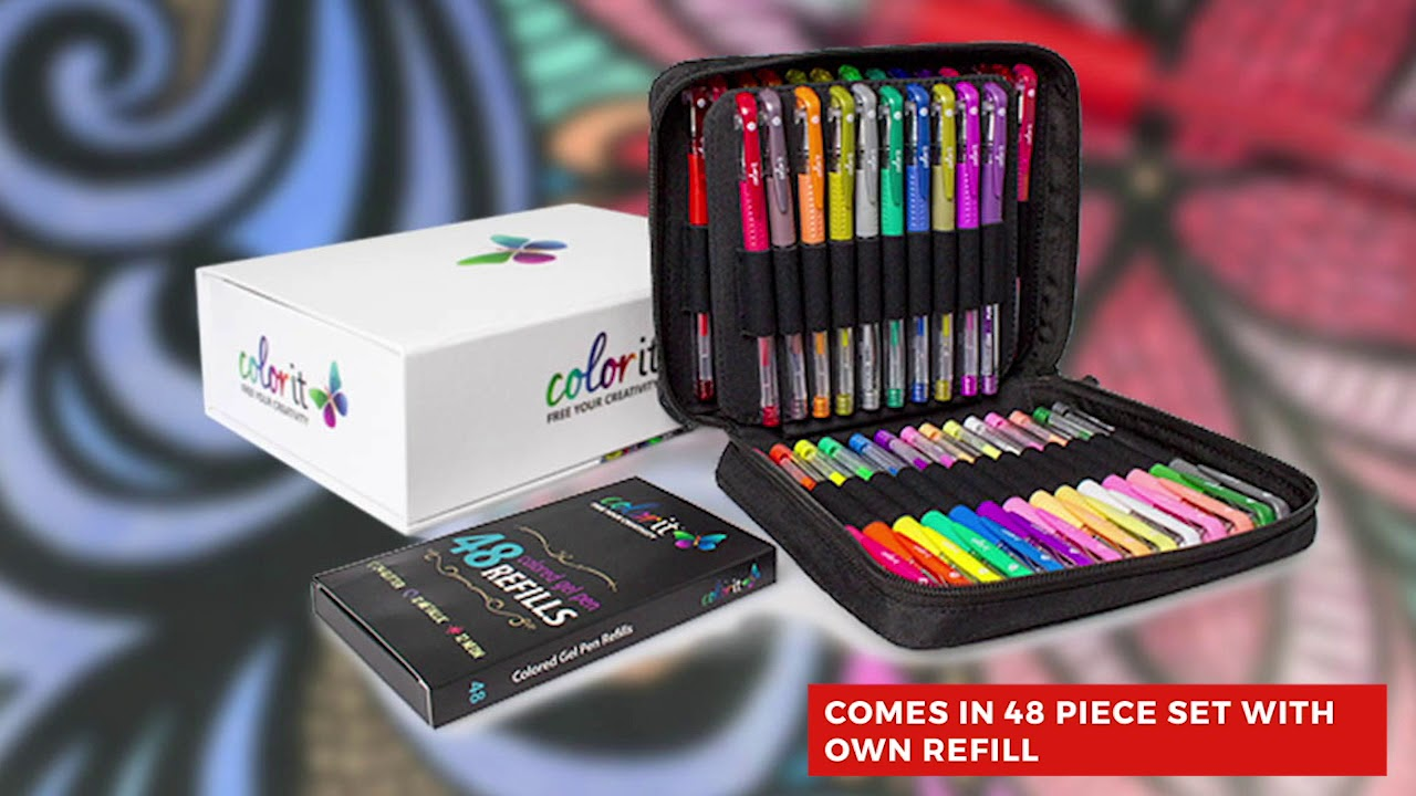 Best Colored Pencils, Markers, and Gel Pens - By ColorIt - YouTube