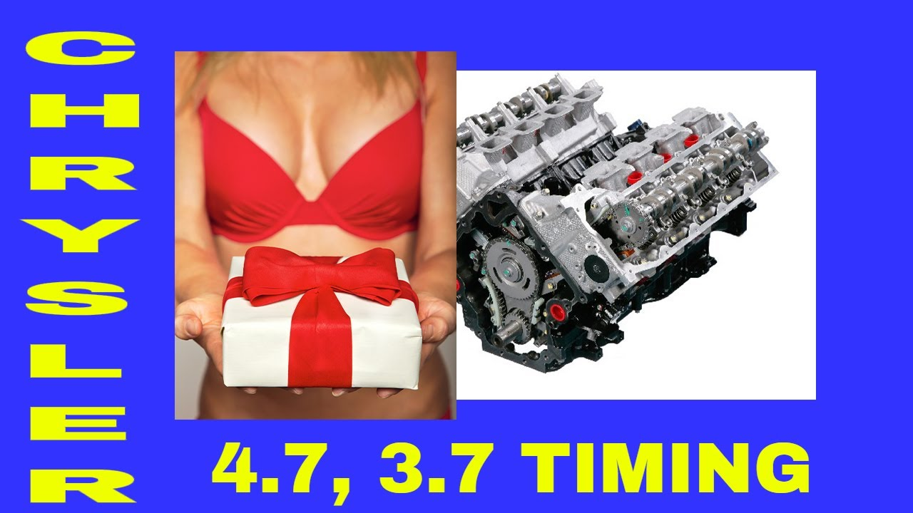 hight resolution of complete timing chain job on a chrysler 4 7 engine