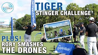 Rory Mcilroy Smashes All The Drones PLUS A Tiger Woods Stinger Challenge | ME AND MY GOLF