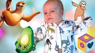Игровое путешествие младенца / Новорожденный играет с папой / Обзор new born / Детские игры игрушки