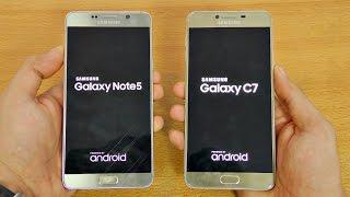 Samsung Galaxy C7 vs Note 5 - Speed Test! (4K)