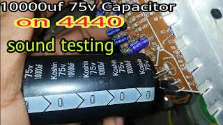 Download Video 10000uf Super Capacitor on 4440, 4440 Sound test, | Amplifier Board | Audio Amplifier | | Mini Ampli MP3 3GP MP4