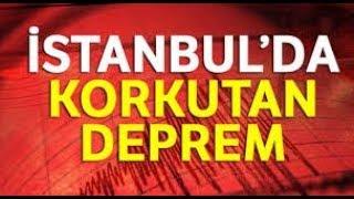 İstanbul 26 Eylül 2019 Deprem Anı Görüntüleri