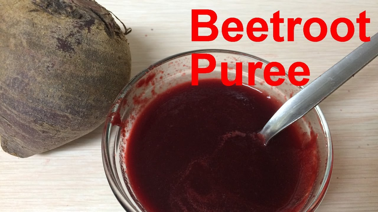 how to make beet puree for babies baby food youtube