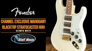 Fender Channel Exclusive Mahogany Blacktop Stratocaster HHH - In-Depth Demo!