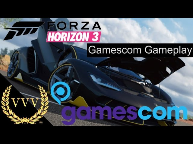 Forza Horizon 3 Gameplay Gamescom 2016