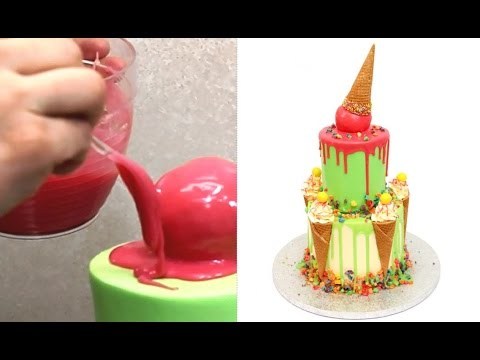 Color Drip Cake How to make by CakesStepbyStep YouTube