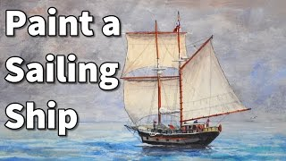 how to paint a sailboat in watercolor sailing ship time lapse painting lessons