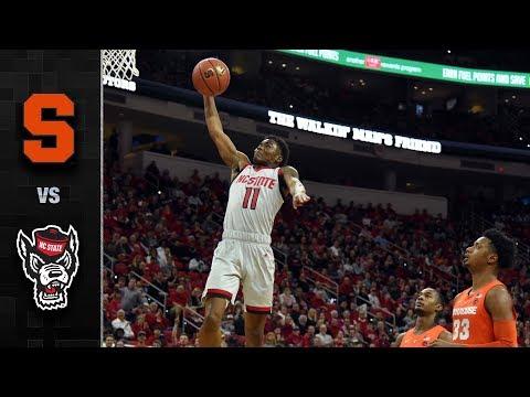 Syracuse vs. NC State Basketball Highlights (2018-19)