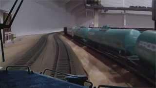 Realistic CAB RIDE- Modern Norfolk Southern Model Railroad - HO Scale