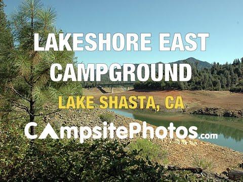 Lakeshore East Campground, Lake Shasta, California Campsite Photos
