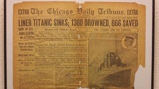 Original Titanic Newspaper - Chicago Tribune , April 16 1912