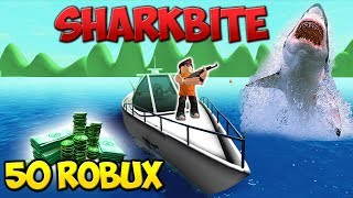 ROBLOX : PLAYING SHARKBITE + WIN FREE ROBUX EVERY 10 MIN
