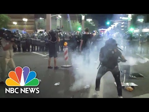 Protesters Clash With Police After Donald Trump Rally In Phoenix | NBC News