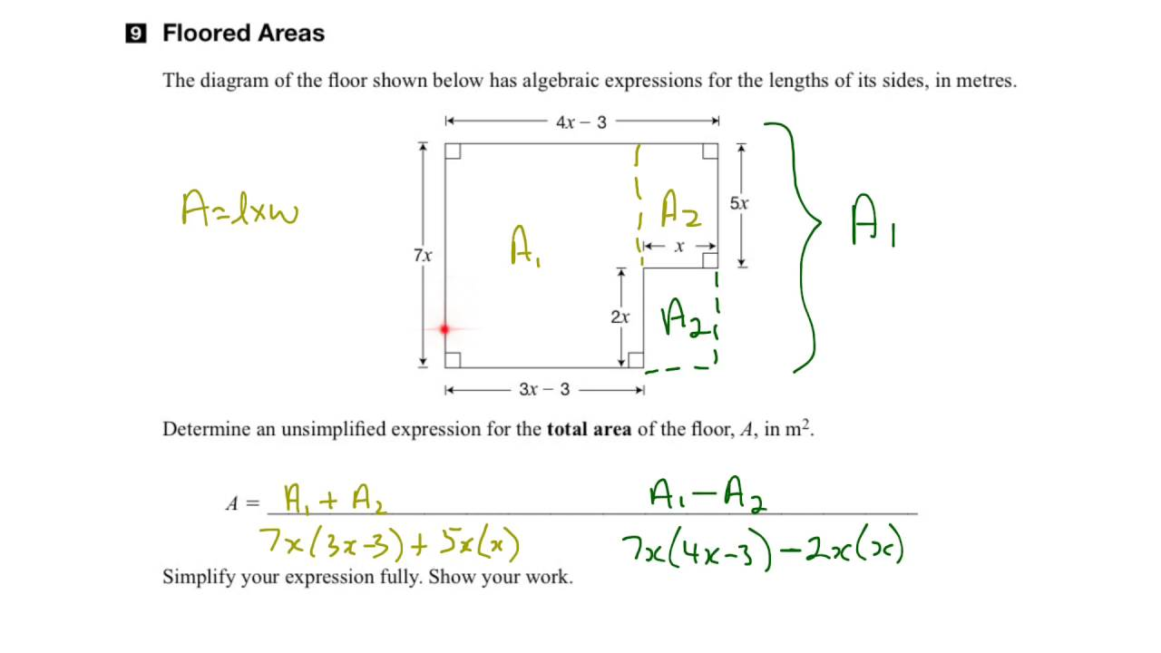 small resolution of eqao grade 9 academic math 2016 question 9 solution