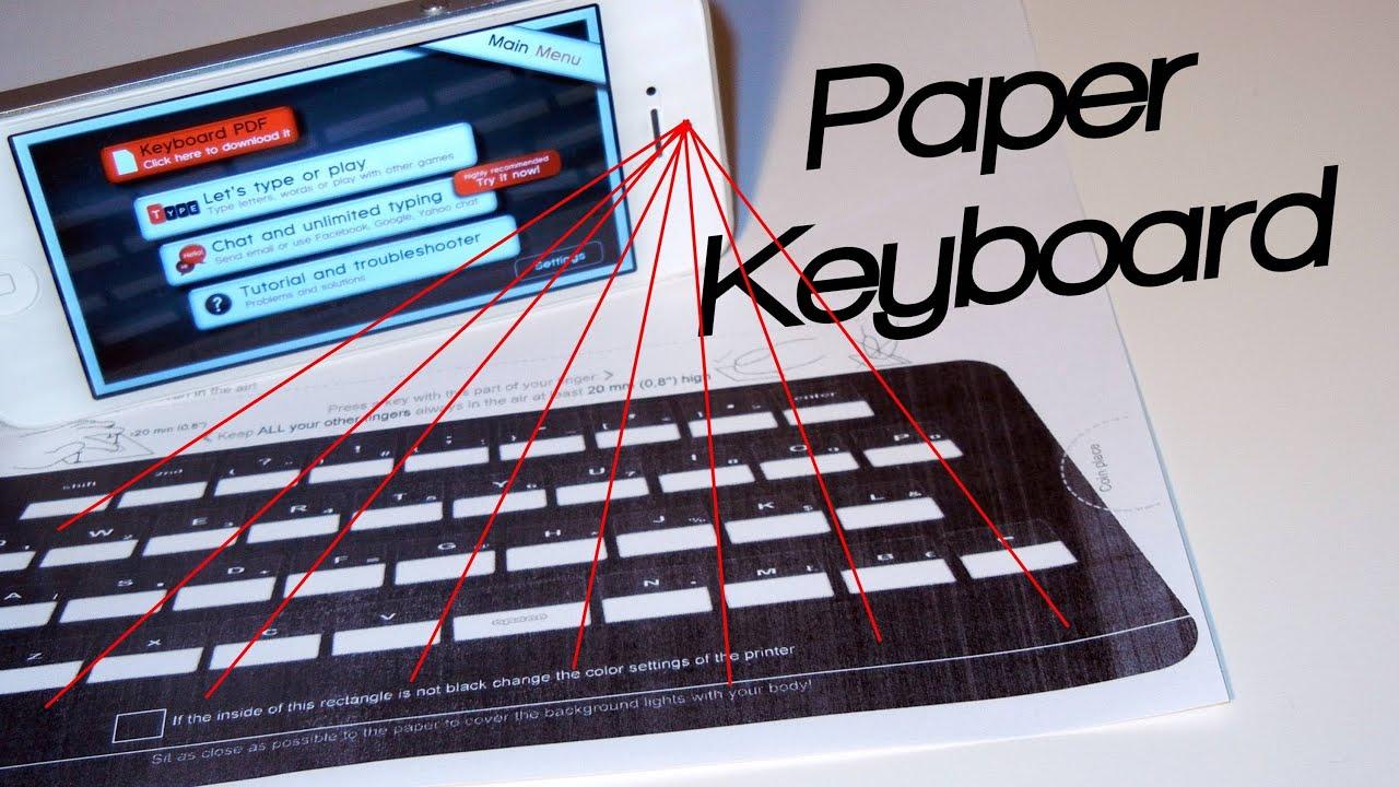 Paper Keyboard Pdf