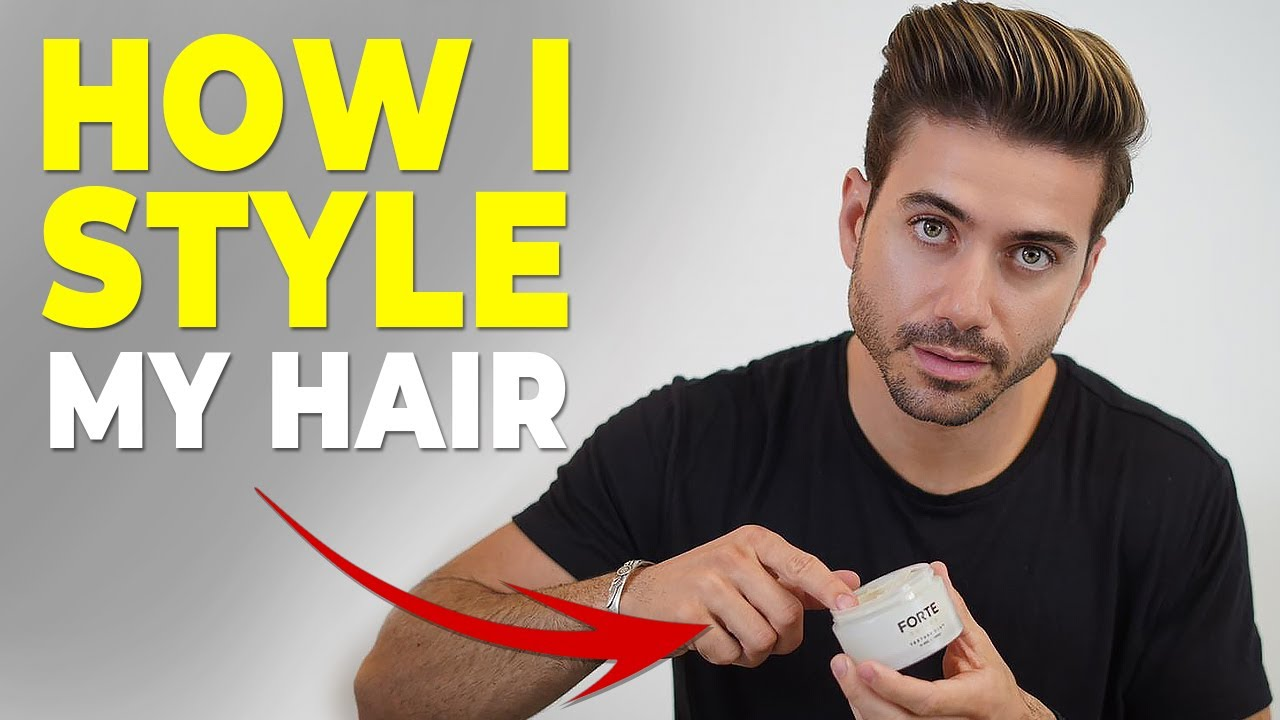 How I Style My Hair Daily Routine Alex Costa Hairstyle Youtube