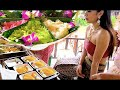 New The Rainbow Mango Sticky Rice w/ Beautiful Girl in Thai traditional Dress - Street Food
