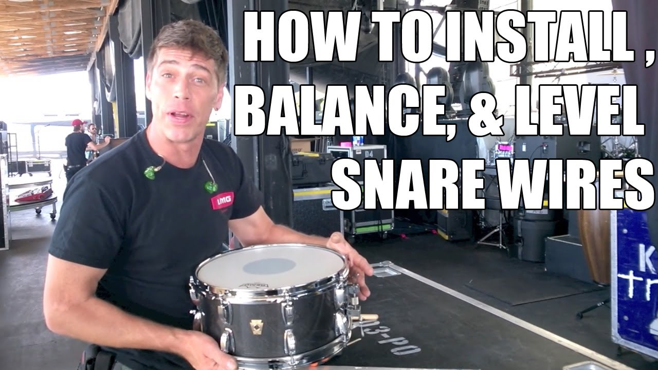 How To Install And Level A Set Of Snare Wires