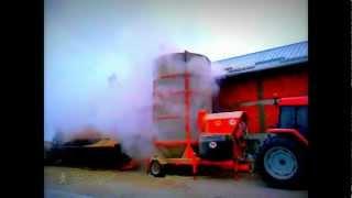 Зерносушилка мобильная AGREX PRT 120 M в работе