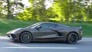 2020 C8 Corvette in Zeus Bronze in the Wild [Exclusive Footage]