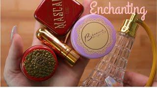 ASMR 'Vintage' Makeup Swatching & Filling Up Perfume Bottle (Bésame Cosmetics)