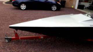 Custom Glen -l- 13 Ft Flat Bottom Speed Boat Mercury 500 Thunderbolt 50 Hp