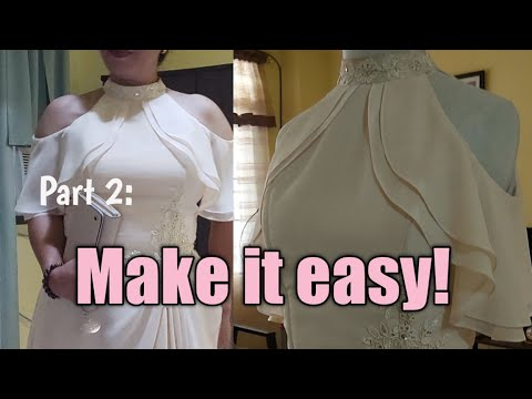 Part 2:techniques how to make gowns in easy way