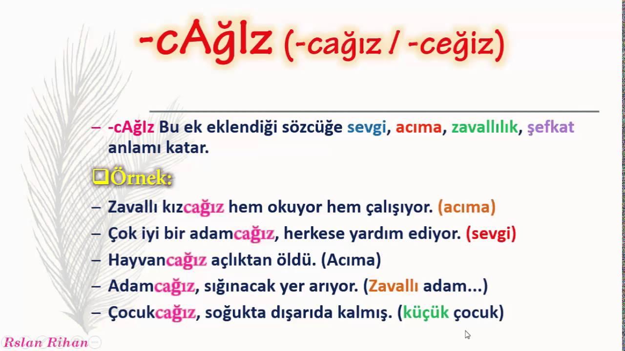 تعلم اللغة التركية (الدرس 13 من المستوى الثاني A2) (التصغير Küçültme Ekleri)