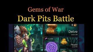 Leveling Dark Pits Delve - Gems of War