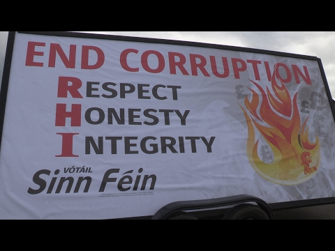 End Corruption Billboard - launched by Sinn Féin candidates