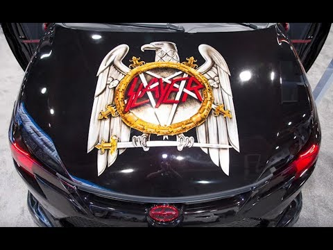 Slayer looks back 37 years at some of their favorite merch ... even a car..!