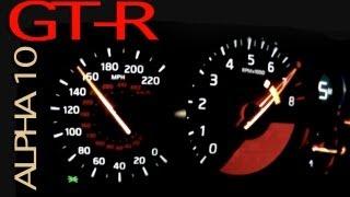 Nissan GT-R AMS Performance Alpha 10 - BRUTAL ACCELERATION [1/4 Mile = 9.33 sec]