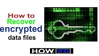 How to recover encrypted data files ● Ransomware affected files